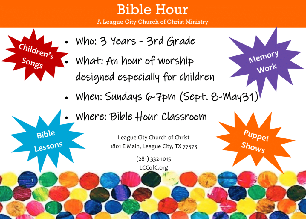 Bible Hour Invite